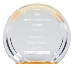 Double Halo Round Acrylic Award