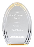 Double Halo Oval Acrylic Award