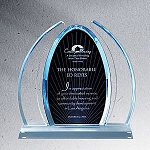 Enterprise Large Blue Dynasty Acrylic Award