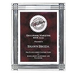Diamond Carved Acrylic Award Plaque