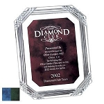 Diamond Carved  Octagon Plaque -10.5