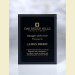 Black Glass Recognition Plaque - 9