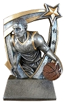 3D Star Male Basketball Trophy 712 - 5