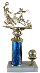 Soccer Trophy with Double Figure on 2x5 - 9