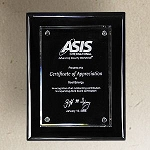 Black Piano Finish Glass Recognition Plaque - 9