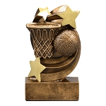 Star Burst Resin Basketball Trophy  717 - 4 3/4