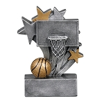 Star Burst Resin Basketball Trophy  716 - 4 3/4