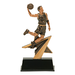 Power Star Resin Male Basketball Player - 7