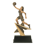 Power Star Resin Female Basketball Player 715 - 7