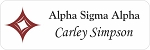 Alpha Sigma Alpha Sorority Name Tags