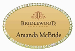 Gold Oval Bling Name Tag 1 1/2
