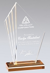 Radiant Edge Acrylic Award with Reflective Gold Base