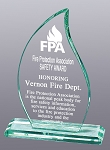 Premium Jade Glass Flame Award