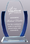 Deluxe Crystal Award with Blue Highlights
