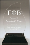 Gamma Phi Beta Flame Acrylic Award