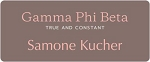 Gamma Phi Beta Sorority Name Tags