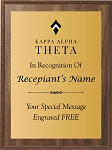 Kappa Alpha Theta Award Plaque Printed In Color