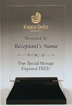 Kappa Delta Rectangle Acrylic Award