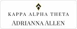 Kappa Alpha Theta Sorority Name Tags