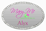 Silver Oval Bling Name Tag 1 1/2