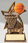 Triple Star Resin Basketball Trophy 720 - 6