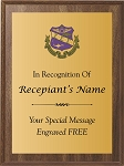 Sigma Sigma Sigma Award Plaque Color Crest