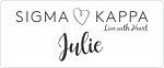 Sigma Kappa Sorority Name Tags