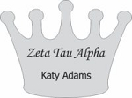 Zeta Tau Alpha Sorority Name Tags