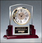 Acrylic and Rosewood Desk Clock BC1028