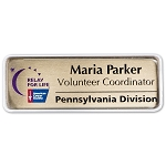 Metal Name Tags With Scratch Resistant Cover 1