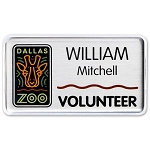 Metal Name Tags With Scratch Resistant Cover 1 1/2