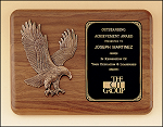 Classic Walnut Plaque with Eagle 11