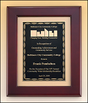 Mahogany Framed Plaque T-P4464