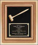 Walnut Framed Gavel Plaque 15