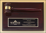 Rosewood Piano Finish Gavel Award Plaque 9