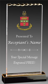 Alpha Chi Omega Ice Top Acrylic Award