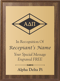 Alpha Delta Pi Plaque with Crest