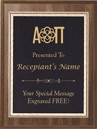 Alpha Omicron Pi Award Plaque With Engraving
