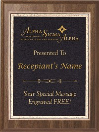 Alpha Sigma Alpha Award Plaque