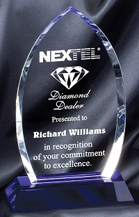 Cool Blue Optical Crystal Excellence Award