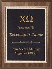Chi Omega Award Plaque