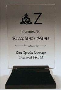 Delta Zeta Rectangle Acrylic Award
