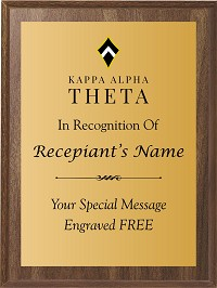 Kappa Alpha Theta Color Plaque