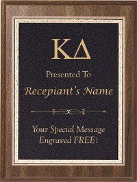 Kappa Delta Plaque with Lettering