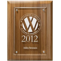 Bamboo Plaque with Clear Plaque