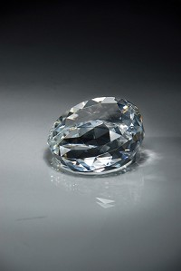 "CRY66 Slant Front Crystal Paperweight MA - 2""x3.5"""