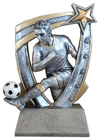 Male Star Soccer Resin
