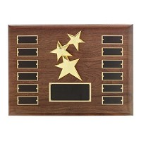 Large Walnut Plaque With Star For Employee of the Month