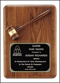 "Gavel  Recognition Plaque 11""x15"""