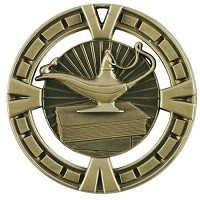 "2.5"" Lamp of Knowledge Medal"